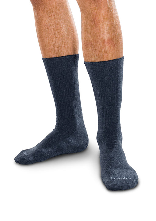 Therafirm SmartKnit Seamless Diabetic Crew Socks w/ X-Static Silver Fibers