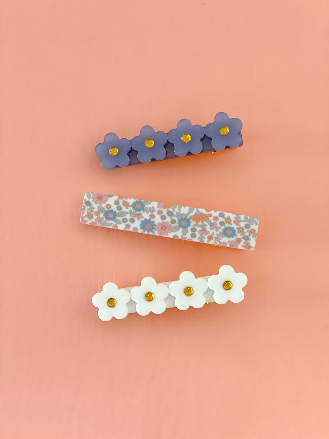 Set Clips Colores Azul/blanco