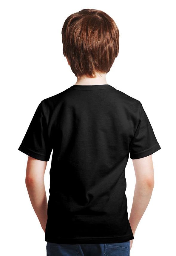 Lion Print Boy's Tshirt - Black