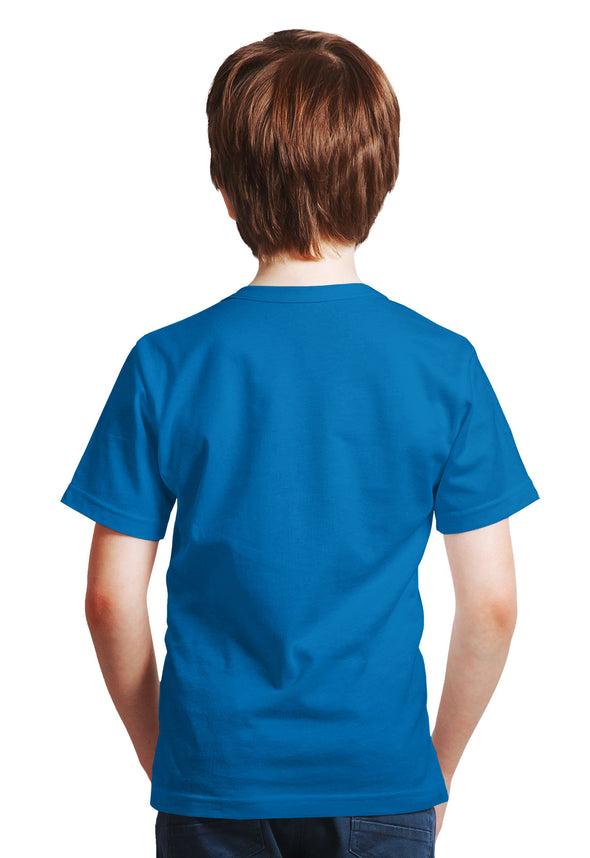 Football Print Boy's Tshirt - Blue