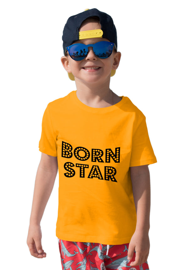 Born Star Boy's Tshirt - Yellow