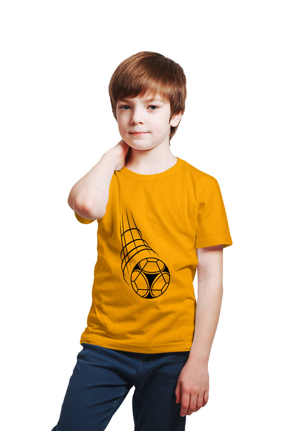 Football Print Boy's Tshirt - Yellow