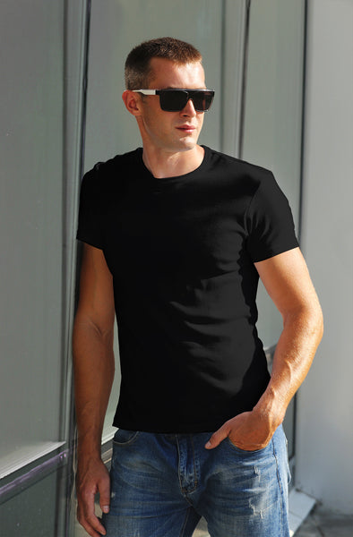 Classic Plain Men's Tshirt - Black