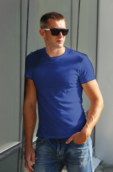 Classic Plain Men's Tshirt - Blue