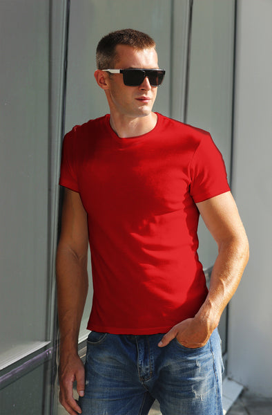 Classic Plain Men's Tshirt - Red