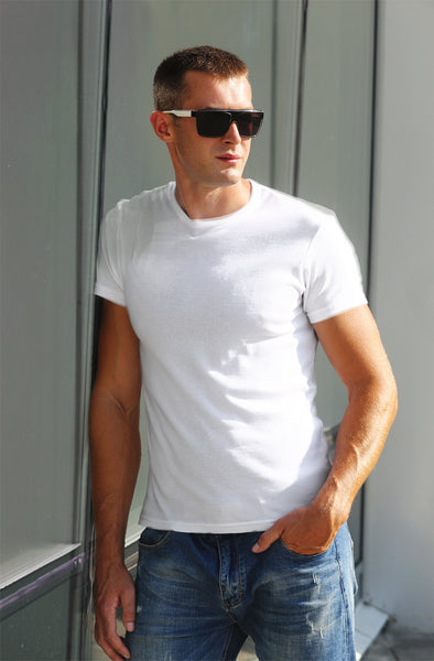 Classic Plain Men's Tshirt - White