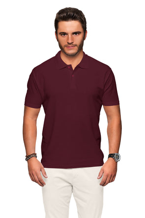 Polo Neck Men's Tshirt - Maroon