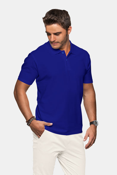 Polo Neck Men's Tshirt - Royal Blue