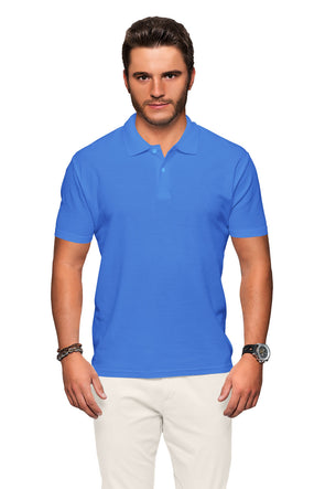 Polo Neck Men's Tshirt - Sky Blue