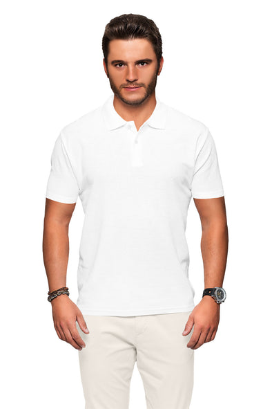 Polo Neck Men's Tshirt - White