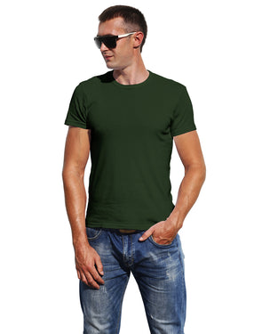 Classic Plain Men's Tshirt - Dark Green