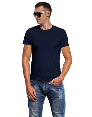 Classic Plain Men's Tshirt - Navy Blue