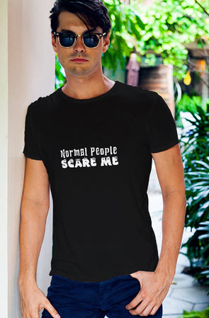 Normal People Scare Me Men's Tshirt - Black