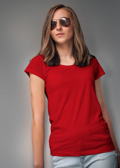 Classic Plain Women's Tshirt - Red
