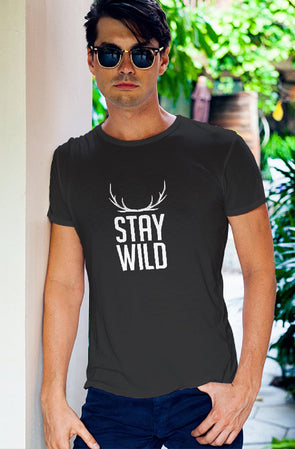 Stay Wild Men's Tshirt - Grey
