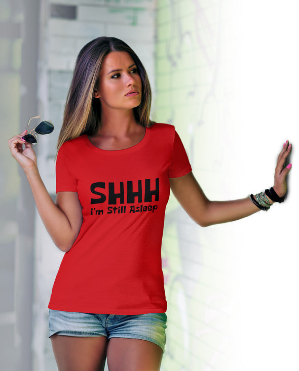Shhh I'm Still Asleep Women's Tshirt - Red