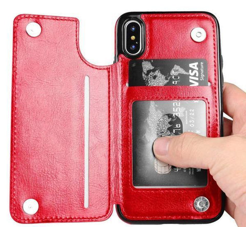 coque iphone xr porte carte sans contact