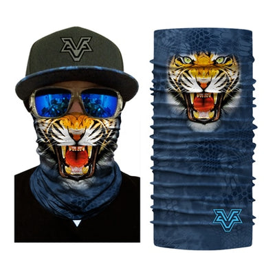 Blue Mask with a Tiger