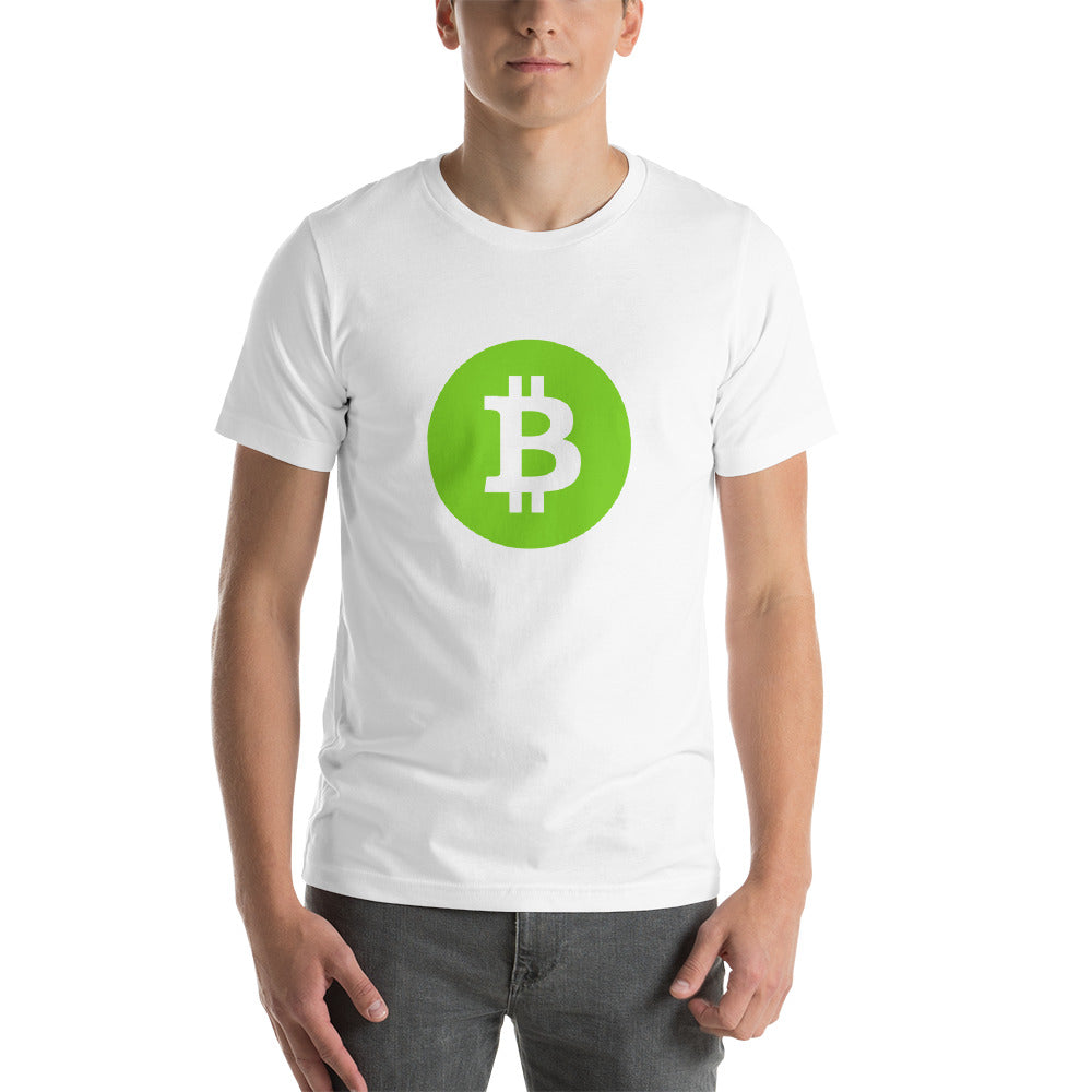 Bitcoin Green Short-Sleeve Unisex T-Shirt