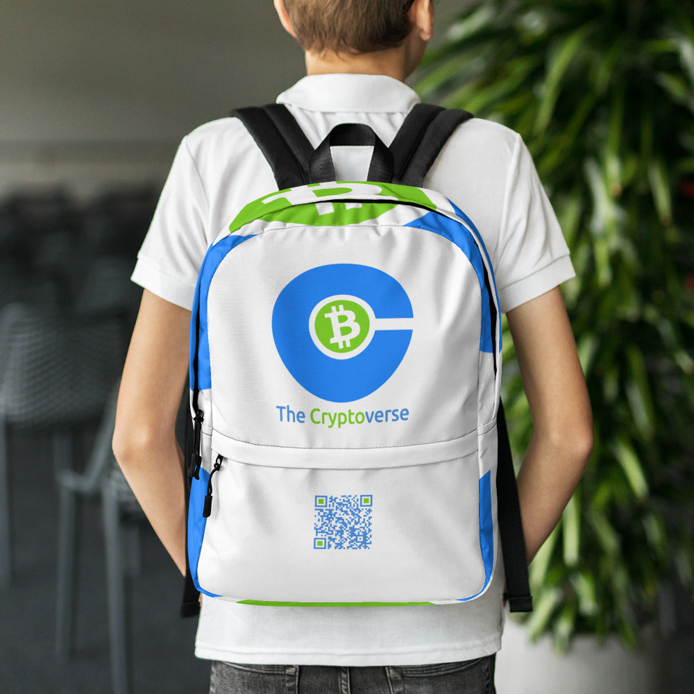 The Cryptoverse Logo Backpack