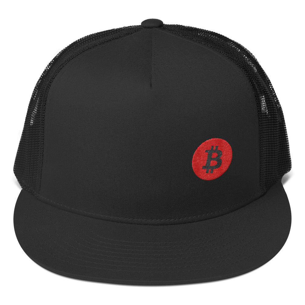 Bitcoin Side Logo Trucker Cap