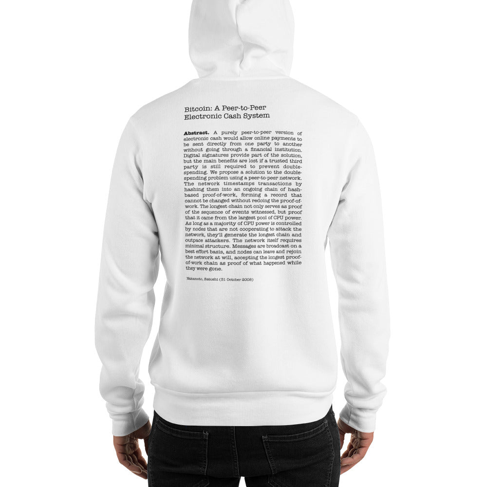 Bitcoin Abstract Hooded Sweatshirt