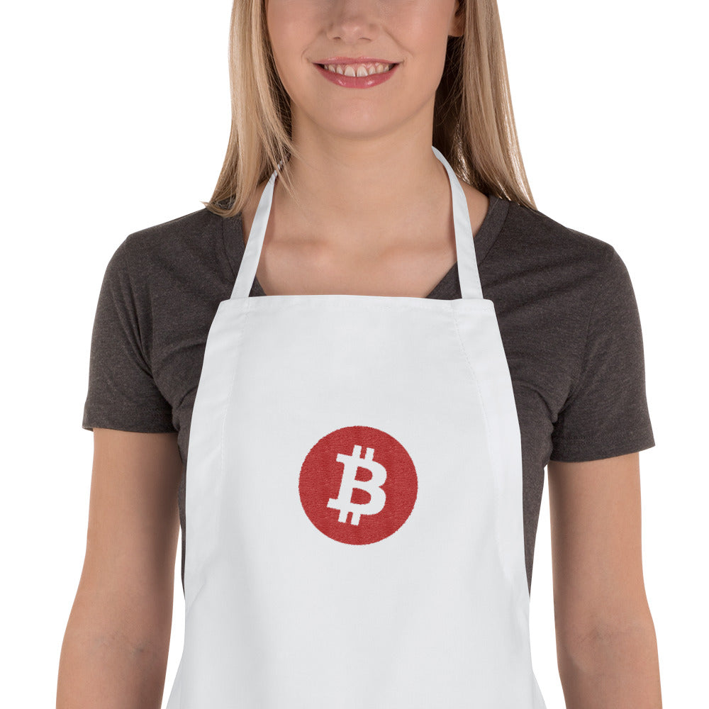 Bitcoin Embroidered Apron