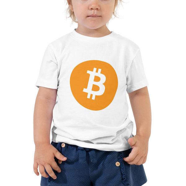 Bitcoin Logo Toddler Short Sleeve Tee