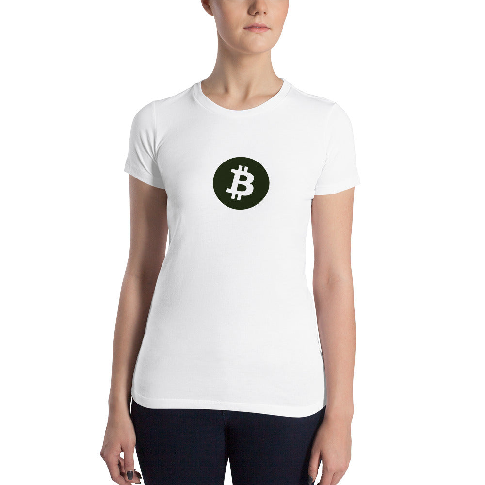 Bitcoin Women's Slim Fit T-Shirt