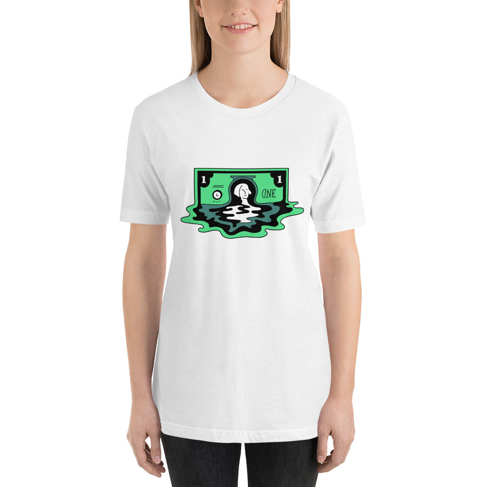 Melting Dollar Short-Sleeve Unisex T-Shirt