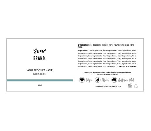 Label Template Set - Design Option 1