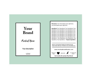 Label Template Set - Design Option 2