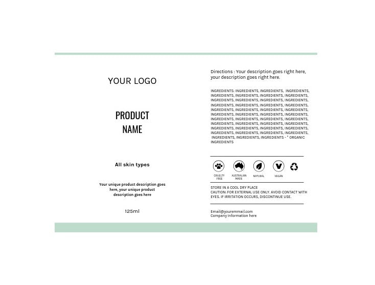 Label Template Set - Design Option 4