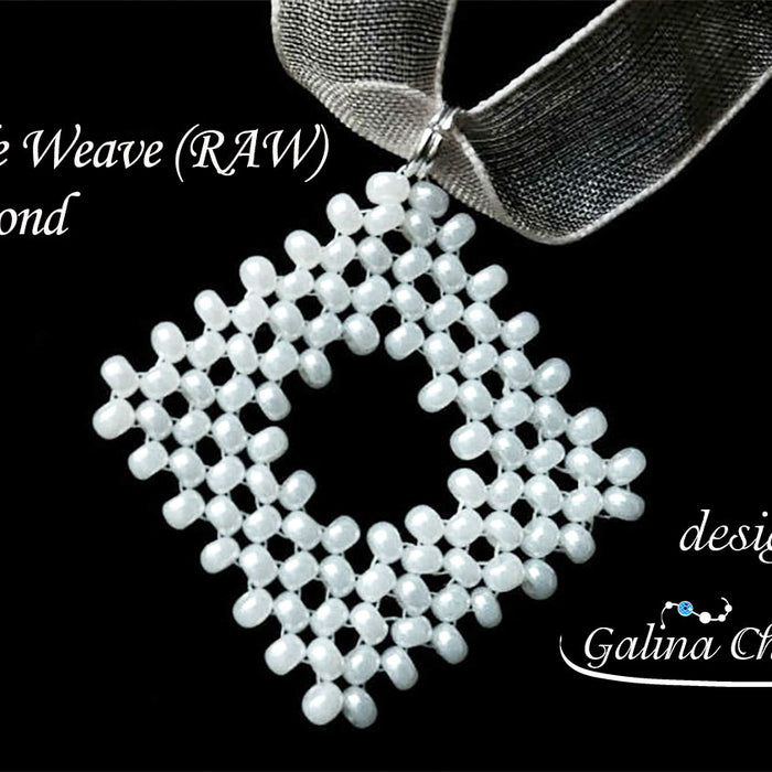 DIY: Beadwork Basics: Right-Angle Weave (RAW) Open Diamond