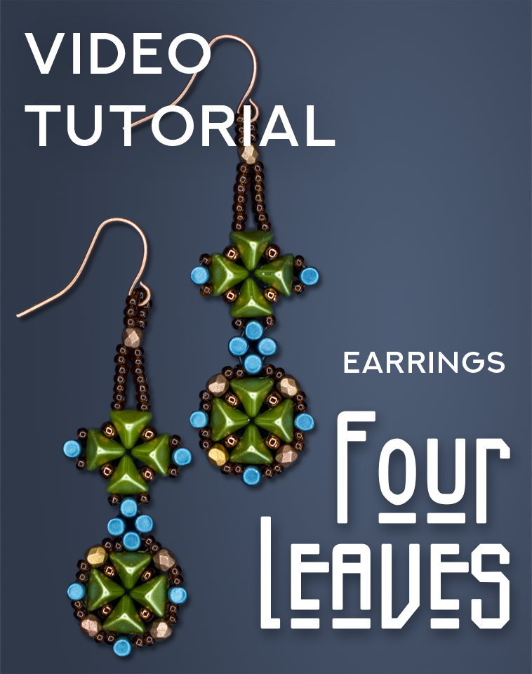 DIY: Beaded Long Earrings Fourleaves