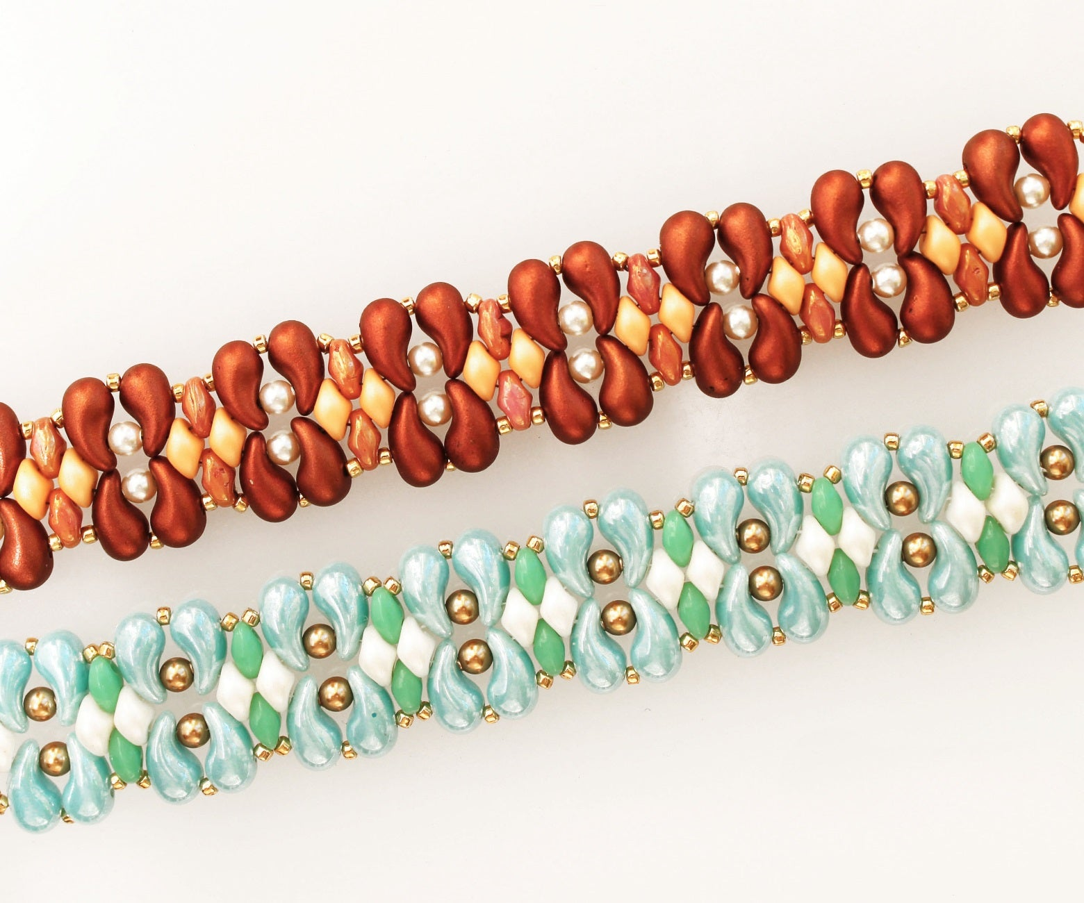 FREE TUTORIAL BRACELET «LINA» with ZoliDuo and SuperDuo Beads