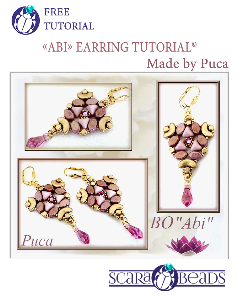 Earrings Abi: made by Puca