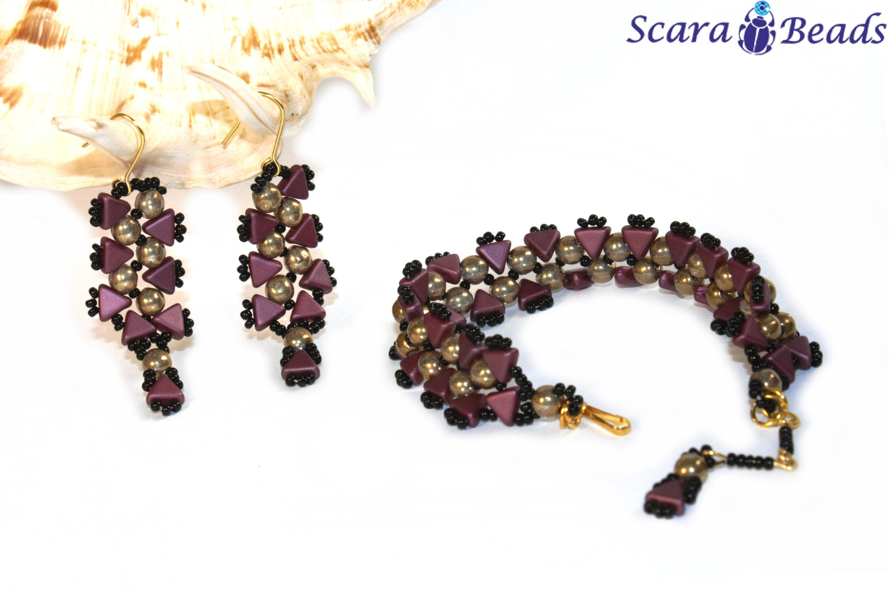"DIY: Jewellery Set ""Cleopatra"" with Kheops par Puca and RounDuo Beads"
