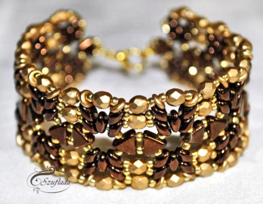 "Handmade: Bracelet ""The Golden Chocolate"""