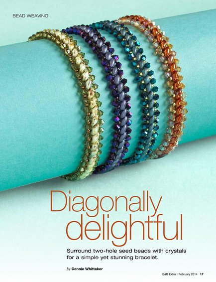 Beadweawing: Diagonally Delightful