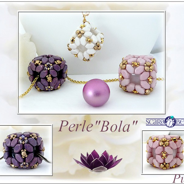 "Free Tutorial: Pendant ""Bola"" made of par Puca"
