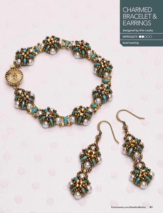 Bracelet and Earrings made of SuperDuo Beads
