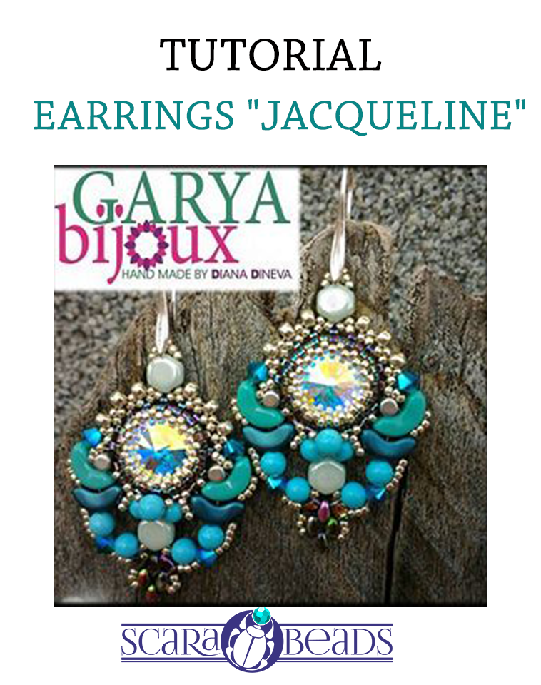 "Free Tutorial: Earrings ""Jacqueline"" by Diana Dineva"