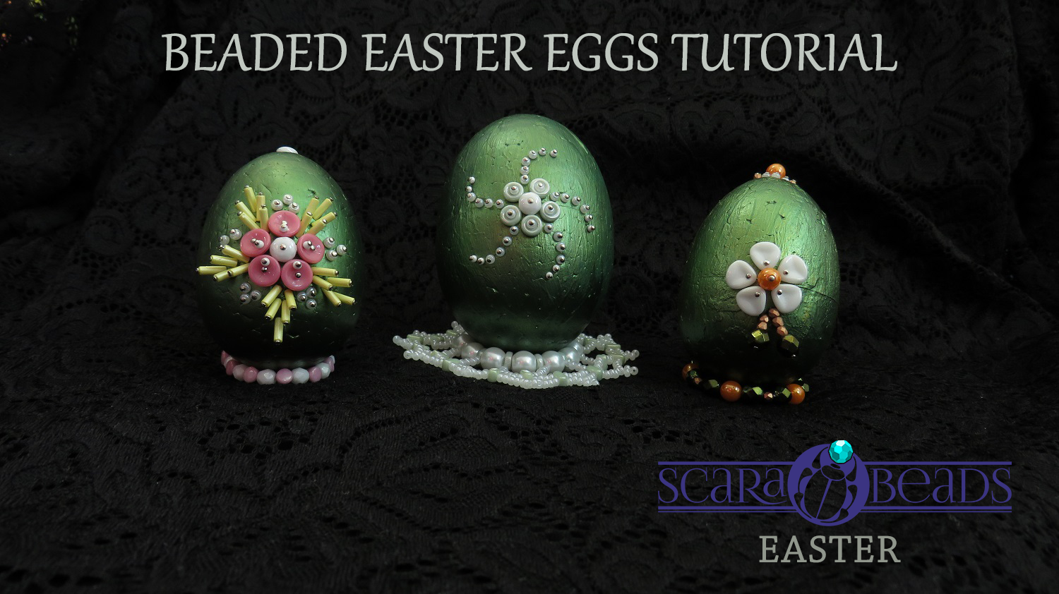 DIY Easter Ideas: Beaded Easter eggs