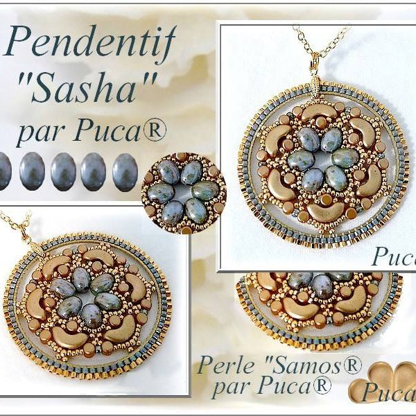 Free Tutorial: Handmade Pendant Sasha made of par PUCA®