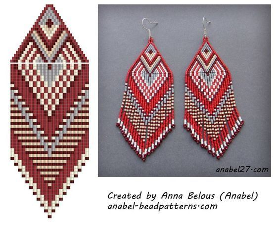 Seed Beads Earrings Pettern