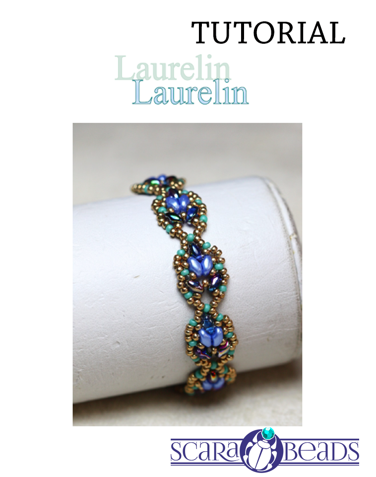 "Free Tutorial: Bracelet ""Laurelin"" by ScaraBeads"