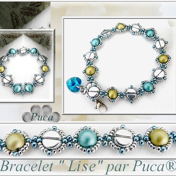 "Handmade: Bracelets and Necklaces ""Lise"" made of Par Puca"