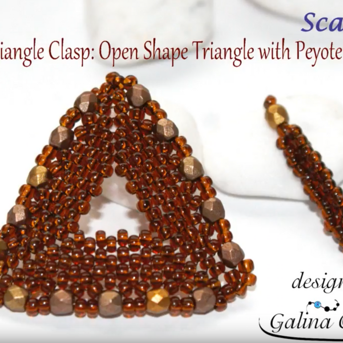 "DIY: Beaded Triangle Clasp ""Open Shape Triangle with Peyote Stitch"""