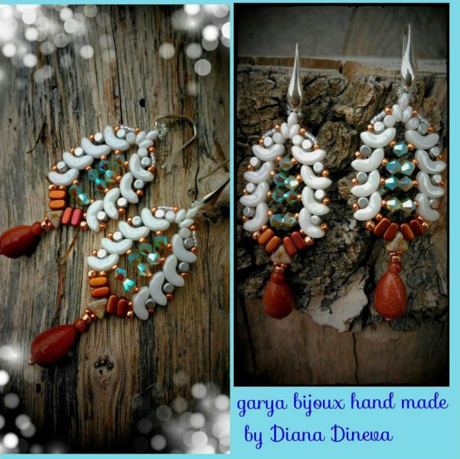 Earrings Speranza by Diana Dineva made by Puca Beads